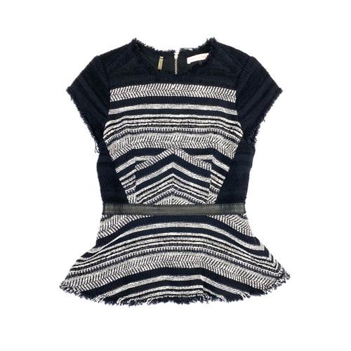 Rebecca Taylor Stripe Tweed Short Dress - Thumbnail