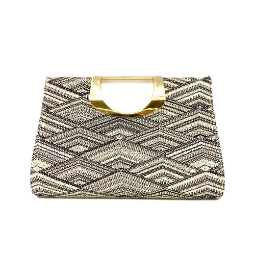 Metallic Tweed Shoulder Bag - Thumbnail