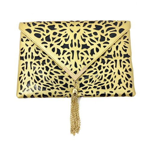 Gail Labelle Laser Cut Handbag - Thumbnail