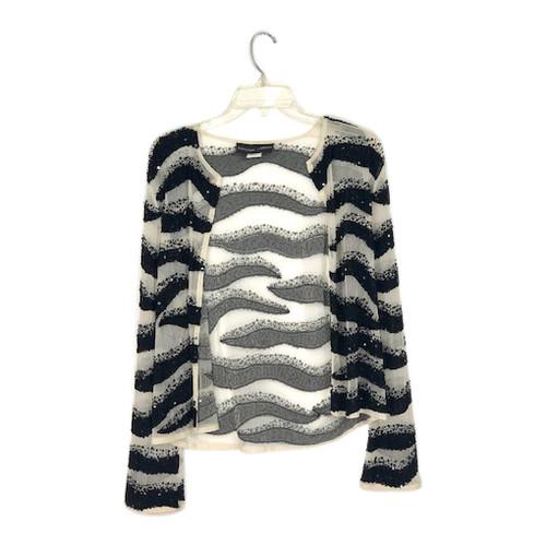 Adrienne Landau Wavy Sequin Jacket- Front
