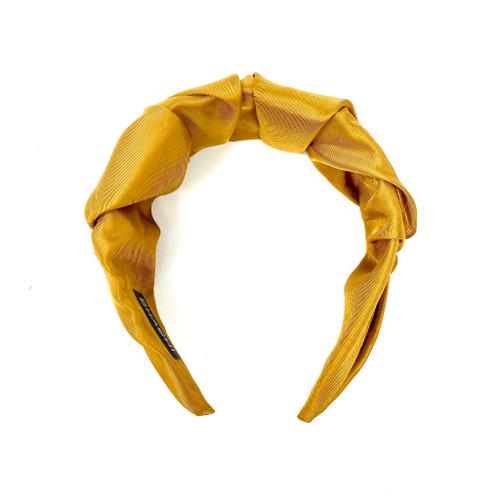 Shashi Brown Knotted Headband - Thumbnail