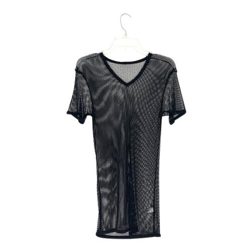 Mesh V-Neck T-Shirt-Front
