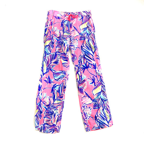 Lilly Pulitzer Tiki Pink Cabana Crazed Pants - Thumbnail
