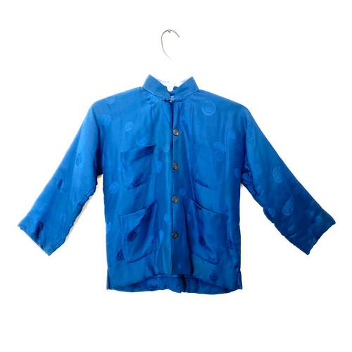 Double Horse Silk Padded Jacket - Thumbnail