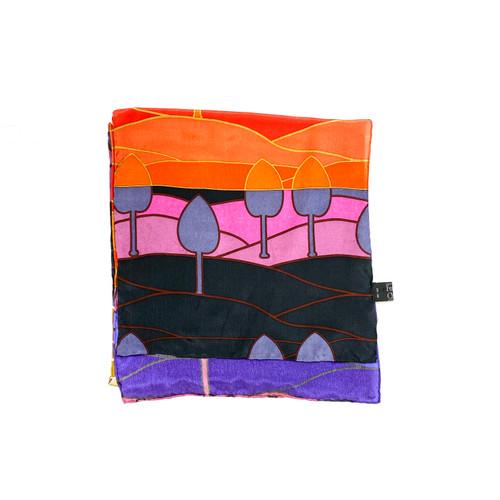 Fox & Chave Landscape Print Scarf - Thumbnail