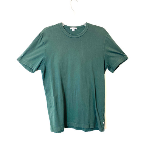 James Perse Winter Green Combed Cotton T-Shirt - Thumbnail