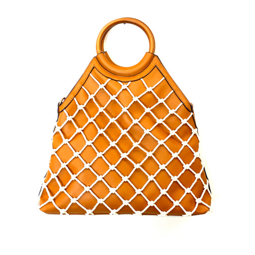 Gail Labelle Vegan Leather Rope Handbag - Thumbnail
