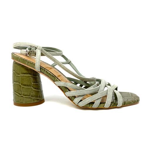 Sam Edelman Daffodil Croc-Embossed Sandals - Thumbnail