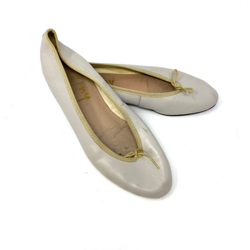 French Sole Cement Ballet Flats- Thumbnail