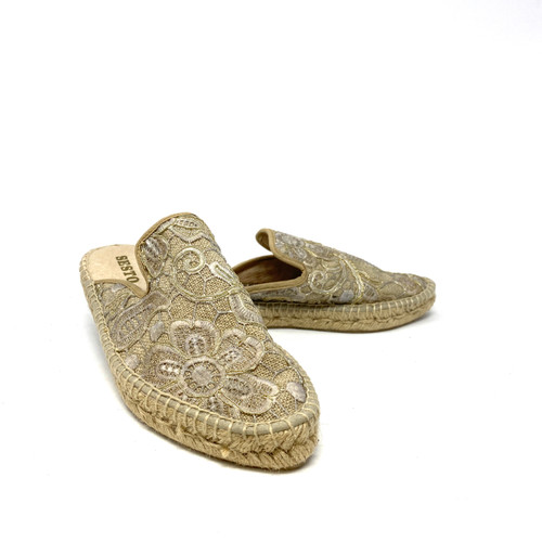 Sesto Embroidered Espadrille Mules- Thumbnail