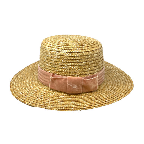 Lack of Color Structured Boater Hat- Front