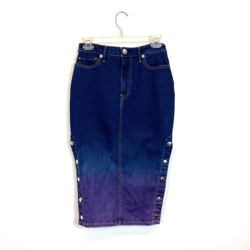 True Religion Ombre Dyed Pencil Skirt- Front