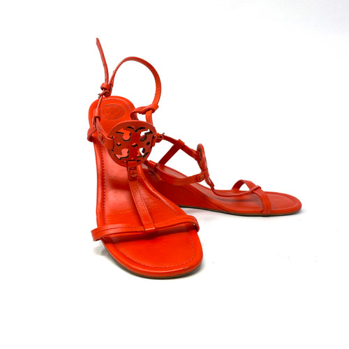 Tory Burch Strappy Wedge Sandals- Thumbnail