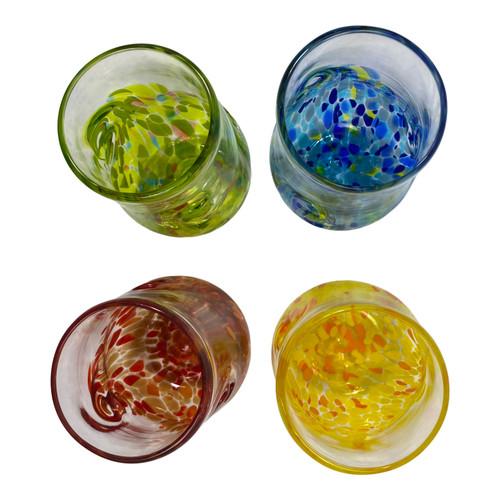 Set of Four Elemental Twist Wine Glass Set - Top