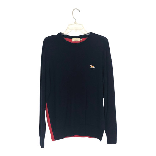 Maison Kitsuné Two Tone Pullover Sweater-Front