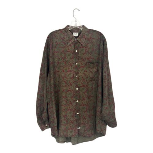Vintage Paisley Linen Button Down-Front
