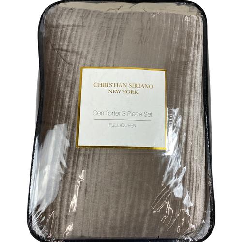 Christian Siriano Full/Queen Rose Crinkle Velvet Three Piece Comforter Set - Front