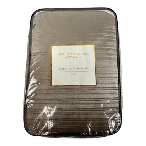 Christian Siriano King Rose Crinkle Velvet Three Piece Comforter Set - Front