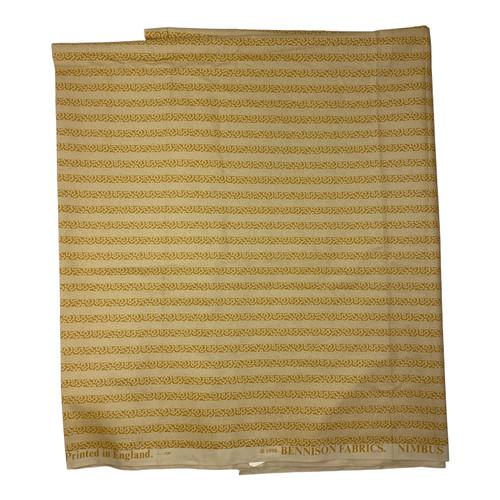 Bennison Fabrics Nimbus Print in Beige - Front