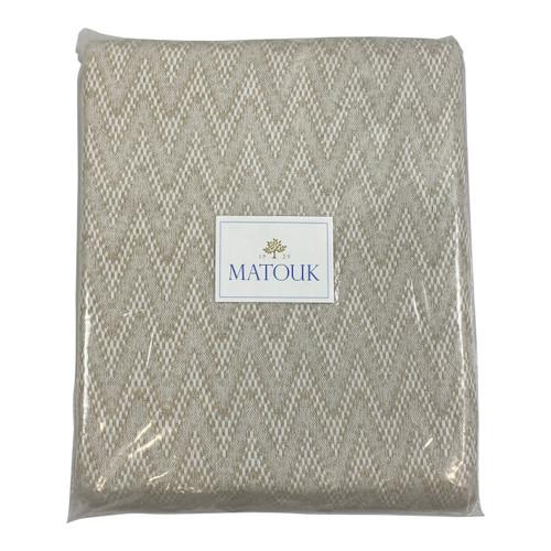 Matouk Twin Santos Linen Blanket - Front