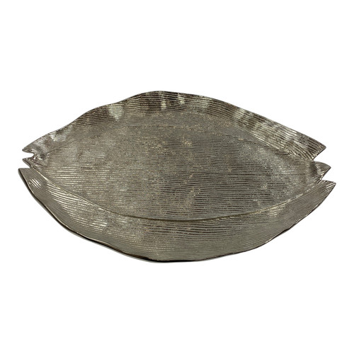Metal Bulb Serving Platter - Horizontal Top