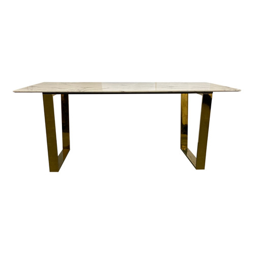 Christian Siriano Marble Topped Table - Front