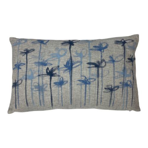 Sarah Von Dreele Katharine Sky Linen Pillow - Front