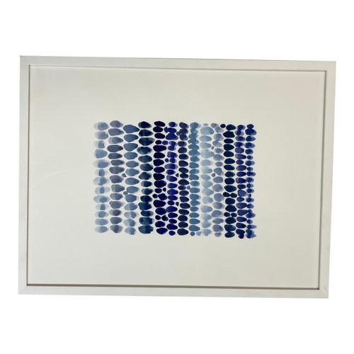 Sarah Von Dreele Framed Gouache Shades of Blue No.1 - Horizontal