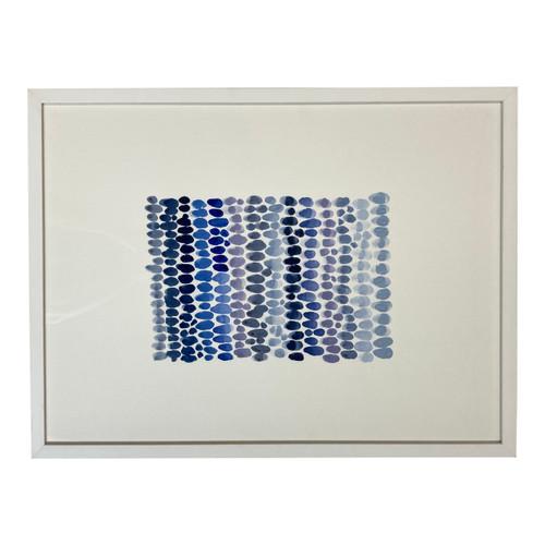 Sarah Von Dreele Framed Gouache Shades of Blue No.2 - Horizontal