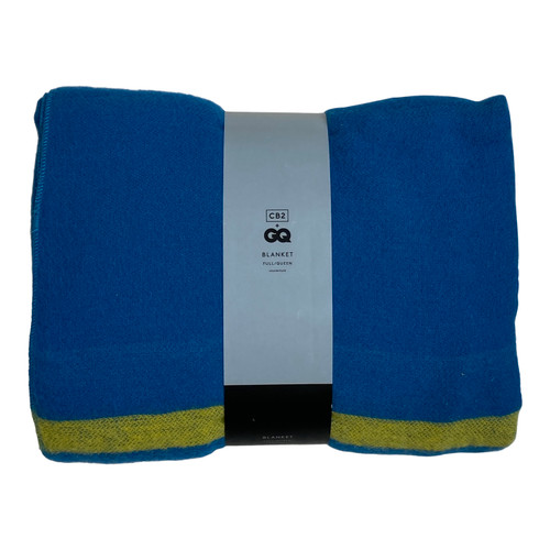 CB2 + GQ Wendover Striped Wool Blanket - Front