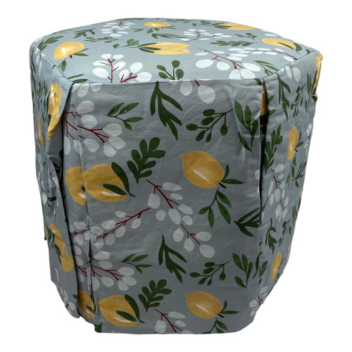 Lemon Pouf Footstool - High