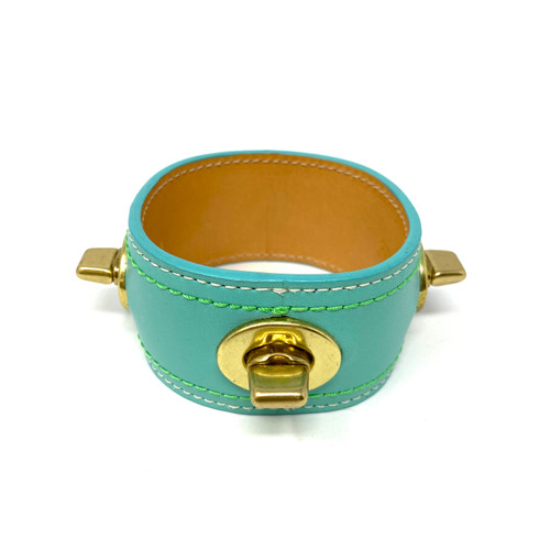 Coach Turn Lock Leather Bracelet- Front