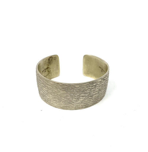 Textured Sterling Cuff- Front