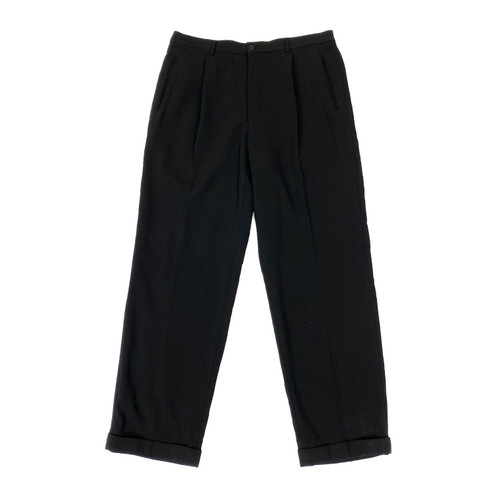 Giorgio Armani Pleated Crepe Pants- Front