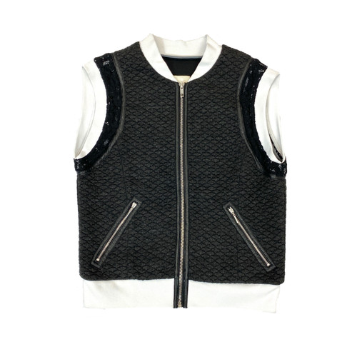 Rebecca Taylor Textured Sporty Vest- Front