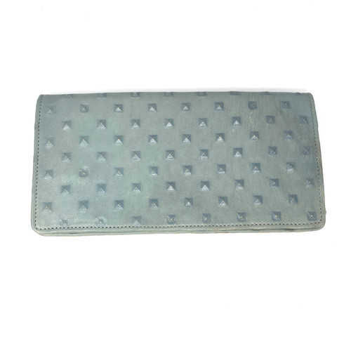Textured Leather Envelope Clutch- Front