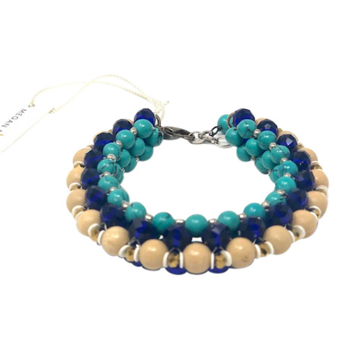 Megan Park Beaded Rows Chunky Bracelet-Front