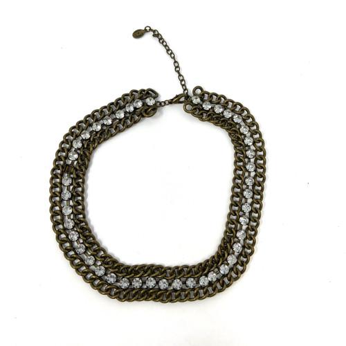 Robert Rose Rhinestone Chain and Rhinestone Collar- Front