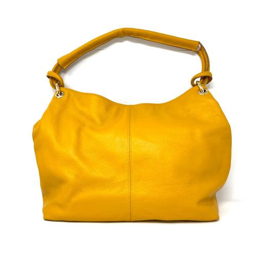 Ora Delphine Pebbled Leather Hobo Bag- Front