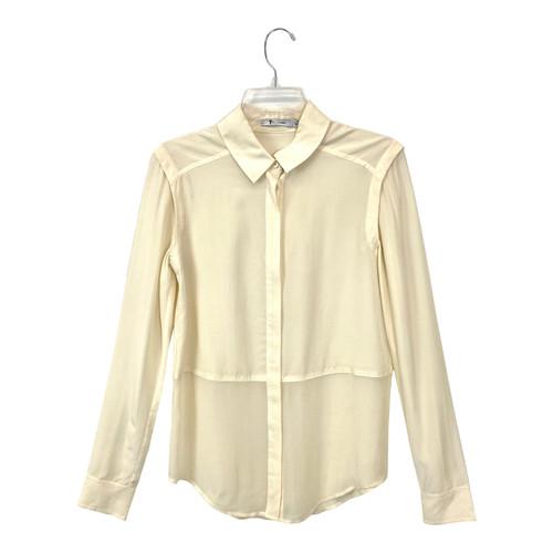 T by Alexander Wang Relaxed Silk Shirt- Front