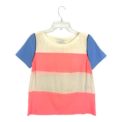 Sandro Silk Fluo T-Shirt- Front