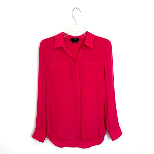 Barneys New York COOP Patch Pocket Blouse- Front