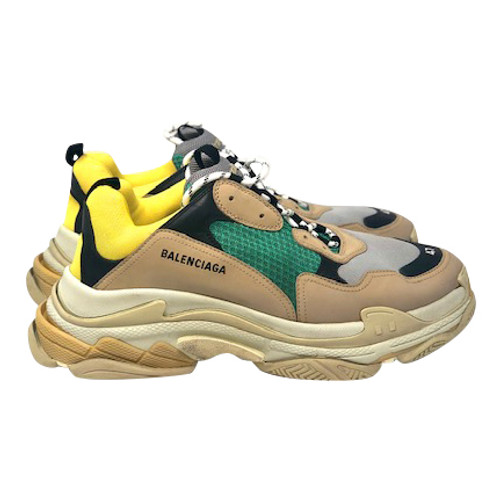 Balenciaga Triple S Leather and Mesh Sneakers-Right