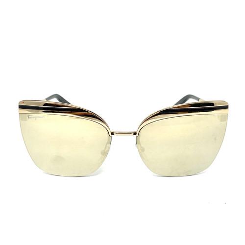 Salvatore Ferragamo Rimless Sunglasses- Front