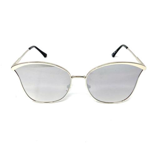 Mareine Reflective Rimless Sunglasses- Front