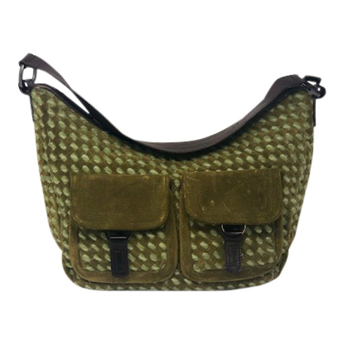 Diane B. Woven Suede Hobo bag-Front
