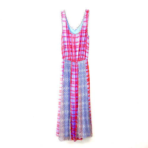 Ella Moss Windowpane Maxi Dress- Front