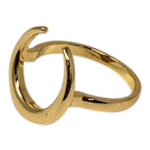 Shashi Gold Tusk Ring-Left