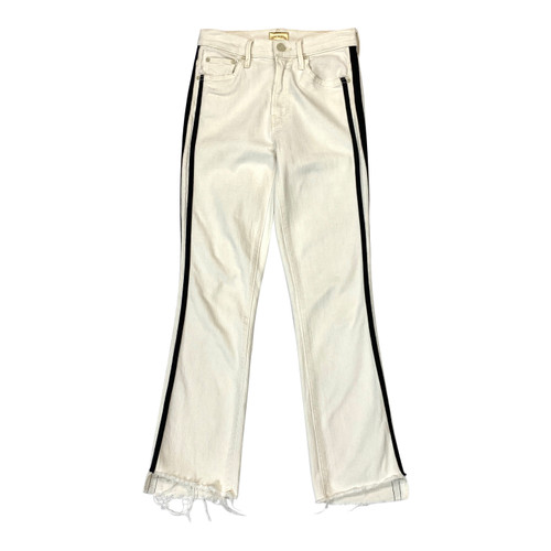 Mother Denim Racing Stripe Kick Flare Jeans- Front