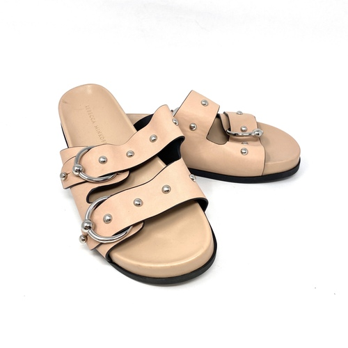 Rebecca Minkoff Studded Footbed Sandals- Thumbnail